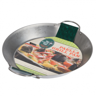 big green egg paella pan