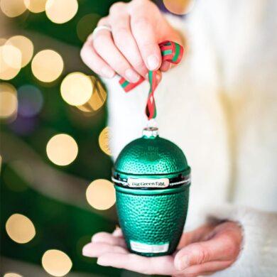 big green egg christmas ornament